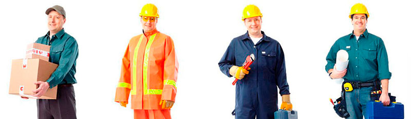 Uniformes para construção civil